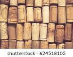 Blank Wine Corks Background