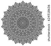 mandala. decorative round... | Shutterstock .eps vector #624518636