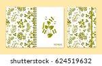 cover design for notebooks or... | Shutterstock .eps vector #624519632