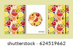 cover design for notebooks or... | Shutterstock .eps vector #624519662