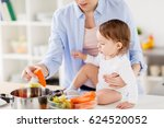 family  food  healthy eating ... | Shutterstock . vector #624520052