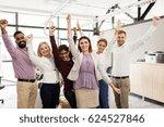 business  triumph  gesture ... | Shutterstock . vector #624527846