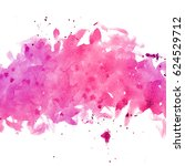 illustration of watercolor pink ... | Shutterstock . vector #624529712