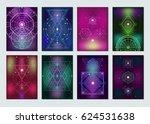 popular sacred geometry ancient ... | Shutterstock .eps vector #624531638