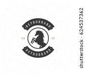 horse silhouette logo template... | Shutterstock .eps vector #624537362
