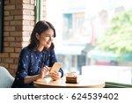beautiful cute asian young... | Shutterstock . vector #624539402