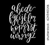 modern calligraphy lowercase... | Shutterstock .eps vector #624540146