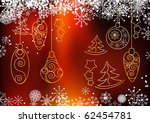 christmas snowflake background. ... | Shutterstock . vector #62454781
