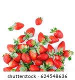 fresh and ripe strawberries on... | Shutterstock . vector #624548636