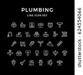 set line icons of plumbing | Shutterstock .eps vector #624554066