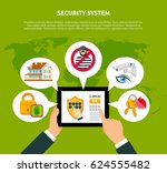 security concept with financial ...   Shutterstock .eps vector #624555482