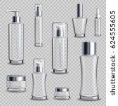 cosmetics skincare empty glass... | Shutterstock .eps vector #624555605