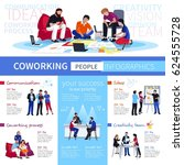 coworking and communication... | Shutterstock .eps vector #624555728