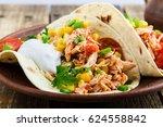 homemade slow cooker chicken...   Shutterstock . vector #624558842