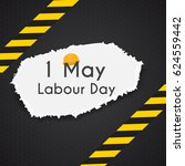labour day 1 may poster. vector ... | Shutterstock .eps vector #624559442