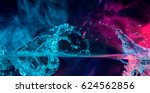 colorful splashes with smoke... | Shutterstock . vector #624562856