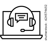 online consulting vector icon   Shutterstock .eps vector #624574652