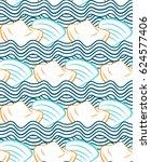 summer vector seamless pattern... | Shutterstock .eps vector #624577406