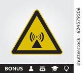 rf radiation hazard sign | Shutterstock .eps vector #624579206