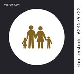 family vector icon | Shutterstock .eps vector #624579722
