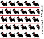 black scottie dogs with red... | Shutterstock .eps vector #62458540
