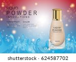 elegant liquid powder isolated... | Shutterstock .eps vector #624587702