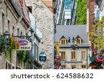 quebec city  canada  september... | Shutterstock . vector #624588632