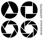 aperture  camera lens symbol ...   Shutterstock . vector #624590702