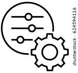 settings vector icon | Shutterstock .eps vector #624594116