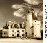 romantic Chenonceau - from my castle's collection - stock photo