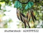 soft focus dream catcher with... | Shutterstock . vector #624599522