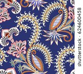 seamless pattern with white... | Shutterstock .eps vector #624600458