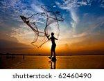 Throwing Fishing Net During...