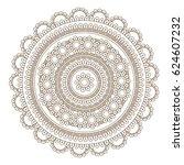 flower mandala vector... | Shutterstock .eps vector #624607232