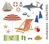 various things needed in the... | Shutterstock .eps vector #624619502