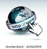globe internet | Shutterstock .eps vector #62462044