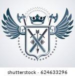heraldic design  vintage emblem. | Shutterstock . vector #624633296