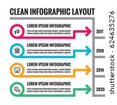 infographic business concept... | Shutterstock .eps vector #624635276