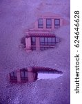 violet flooded house in the... | Shutterstock . vector #624646628