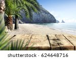 summer desk space  | Shutterstock . vector #624648716
