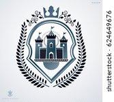 vintage decorative heraldic... | Shutterstock . vector #624649676