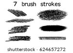 black ink vector stains and... | Shutterstock .eps vector #624657272