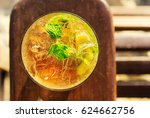 mojito cocktail with mint leafs ... | Shutterstock . vector #624662756