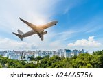 singapore city in forest with... | Shutterstock . vector #624665756