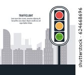 semaphore trafficlight sign... | Shutterstock .eps vector #624668696