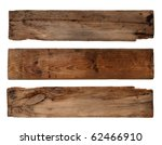 old planks isolated on white | Shutterstock . vector #62466910