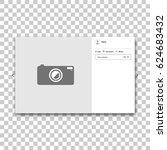 social network photo frame.... | Shutterstock .eps vector #624683432