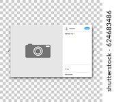 social network photo frame.... | Shutterstock .eps vector #624683486