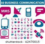 50 business communication signs....   Shutterstock .eps vector #62470015