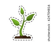 cartoon sprout growing plant eco | Shutterstock .eps vector #624704816